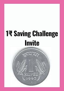 100 Days 1₹ Saving Challenge